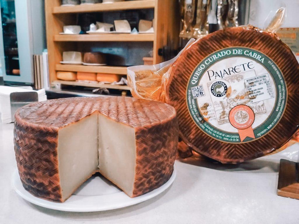 Whole cheese in La queseria Malaga