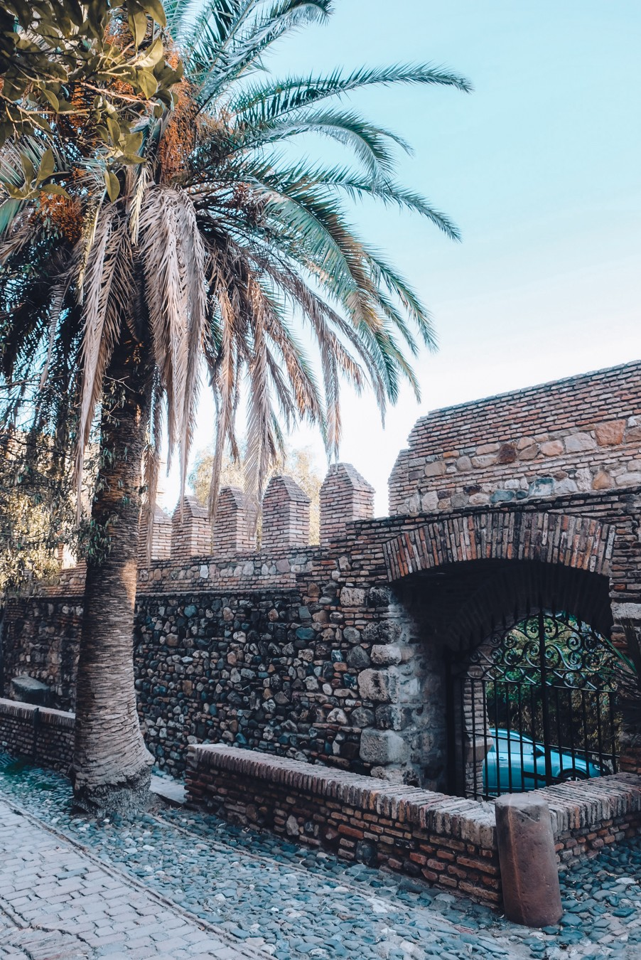 Inside of the Alcazaba fortress in Malaga, Spain.