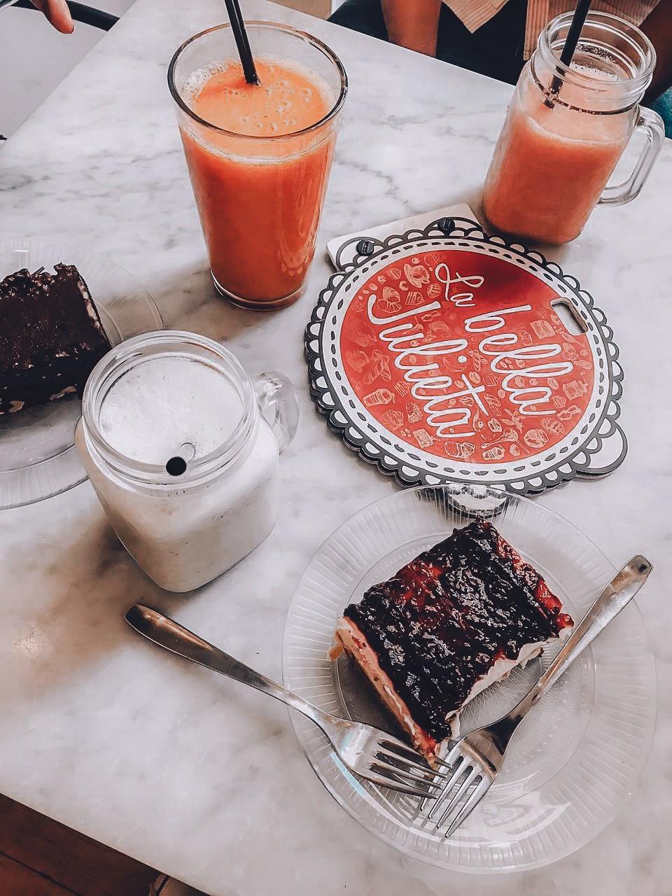 La Bella Julieta food choices Malaga