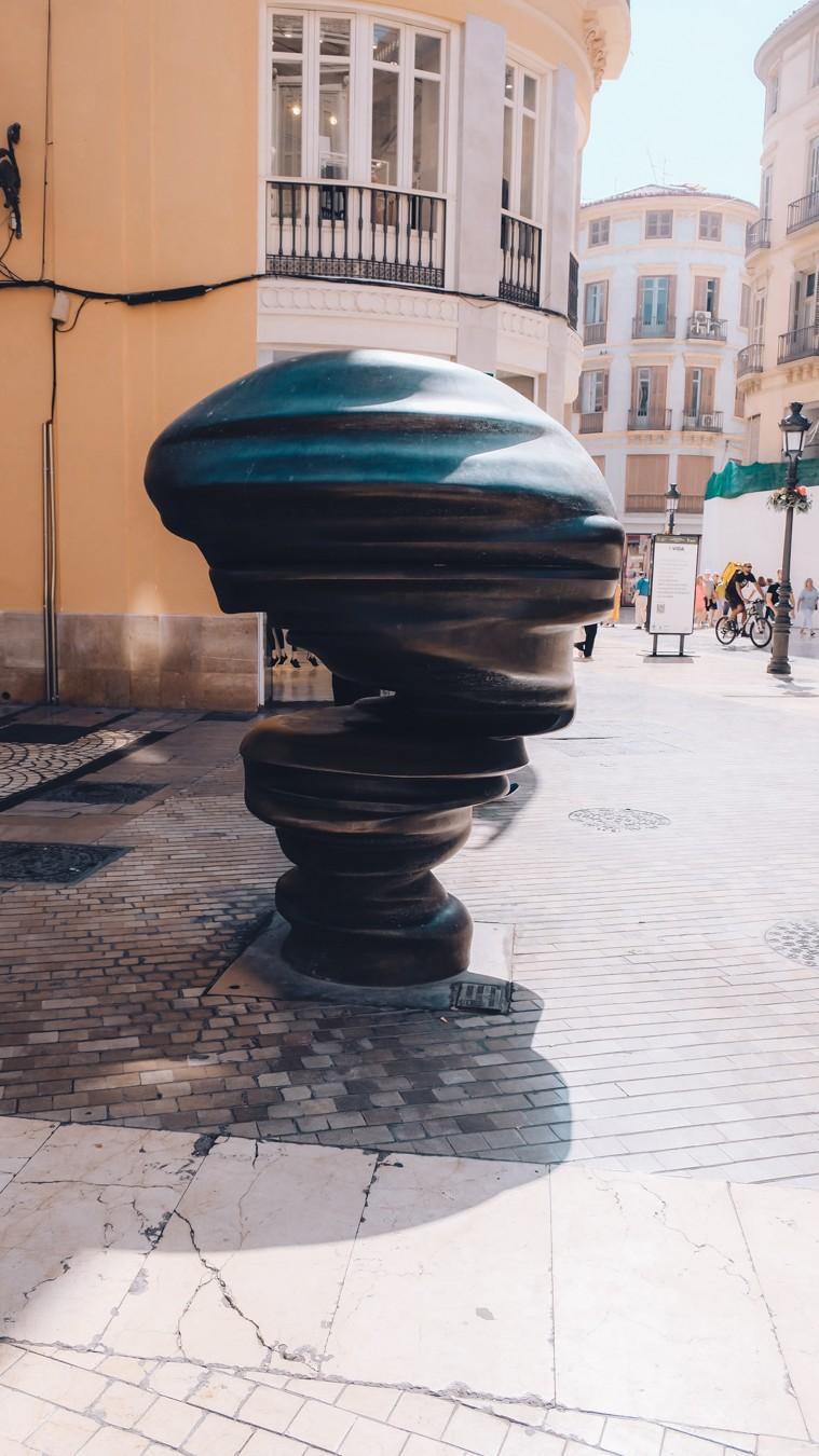 Weird statue in the center of Malaga.