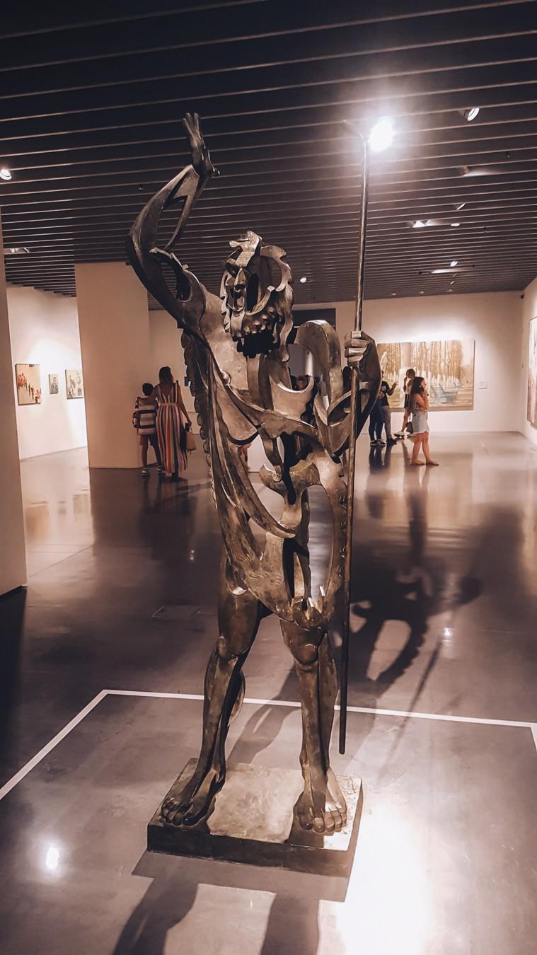 Metal sculpture from the contemporary art centre in Malaga city centre, located at Muelle Uno in Malaga.