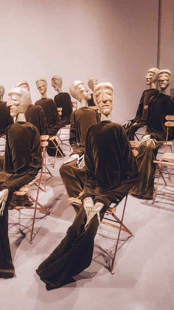Weird exhibition from the contemporary art museum Centre Pompidou in Malaga.