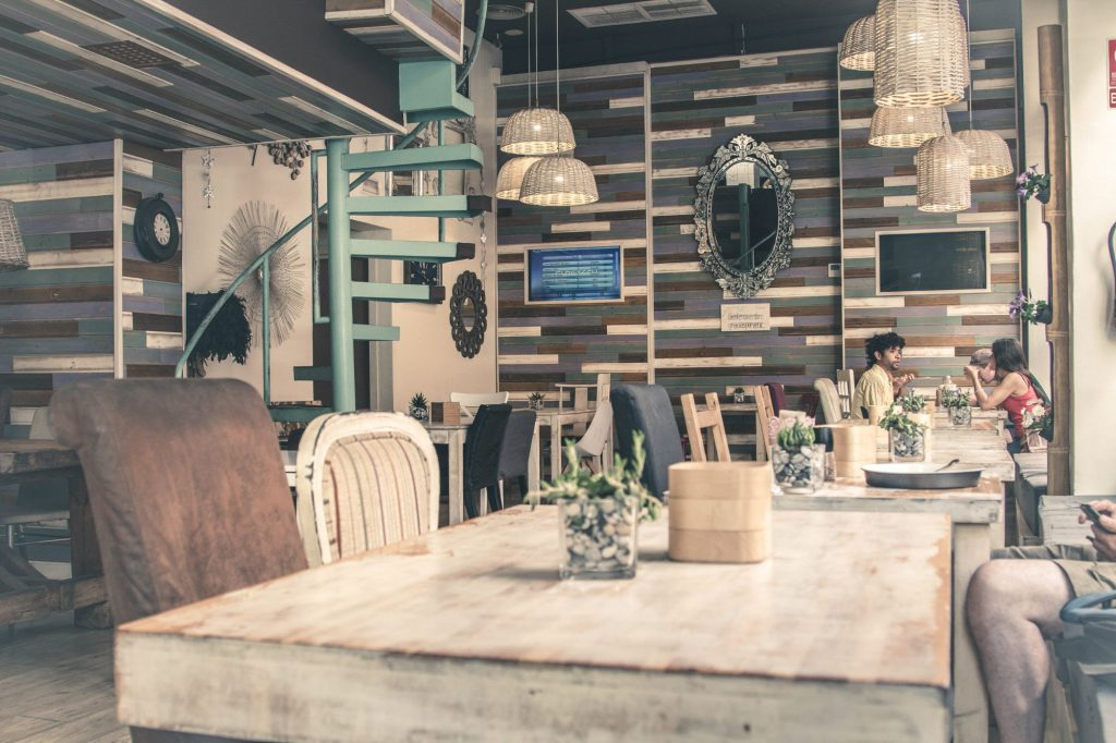 Inside of Noviembre restaurant in Malaga