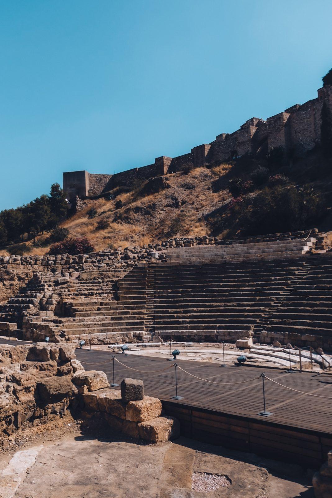 The ancient Roman Theatre in Malaga city centre.