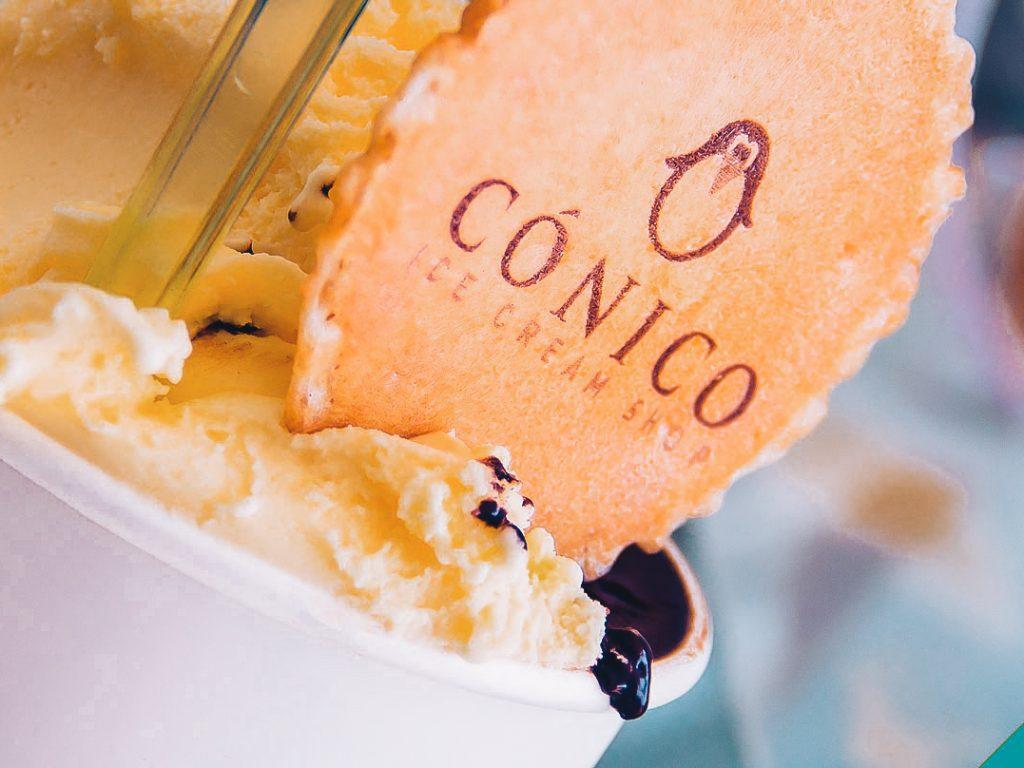 Conico Ice cream shop in Malaga