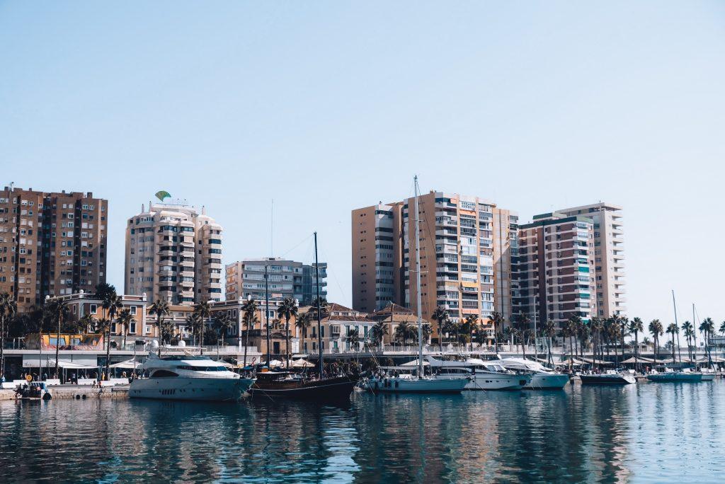 Malaga beachfront promenade