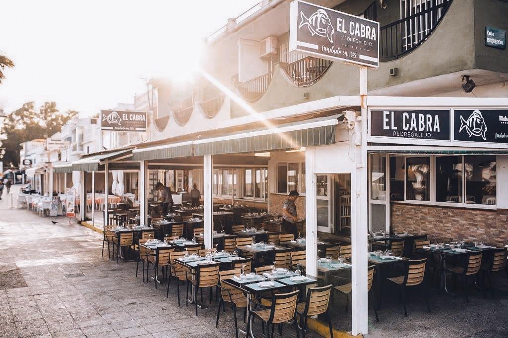 El Cabra terrace in Malaga
