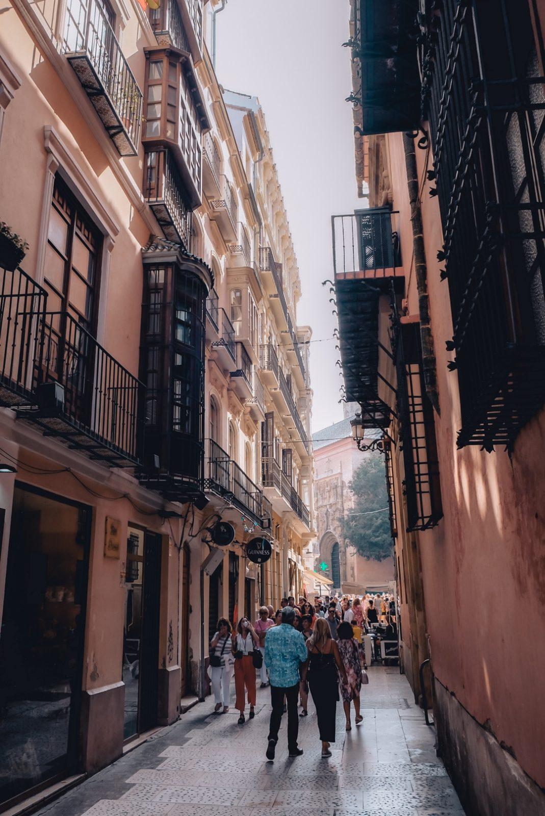 Cute tiny street in Malaga