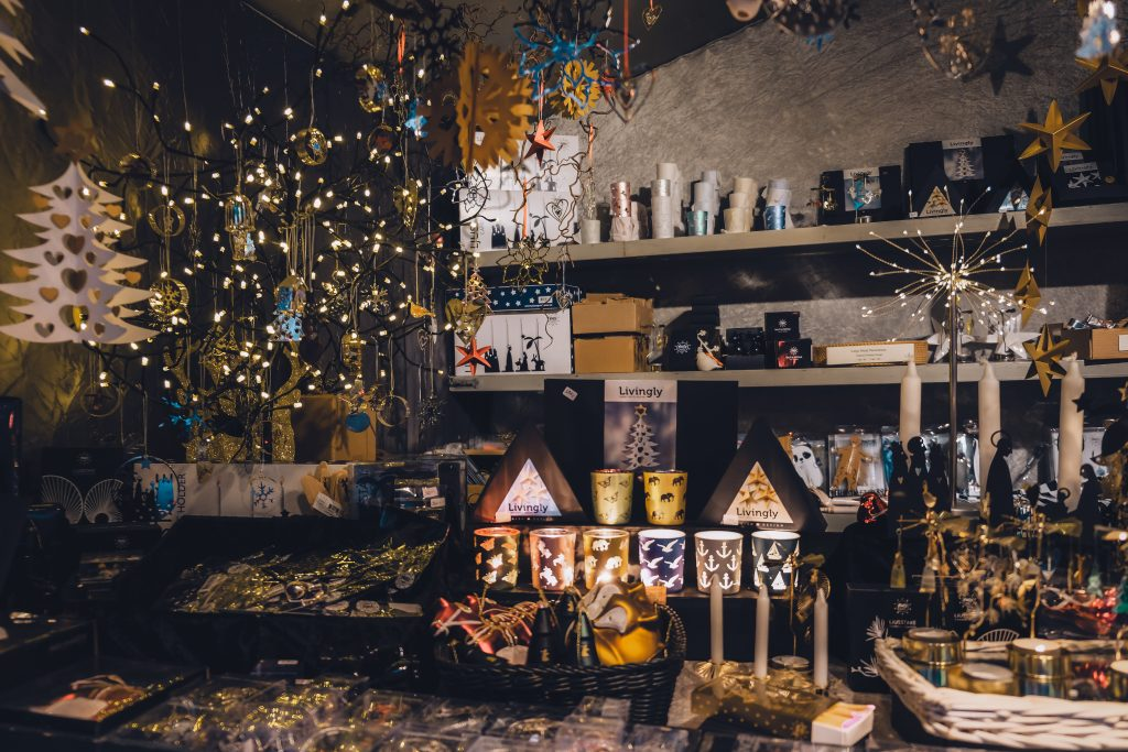 christmas market denmark candles decoration