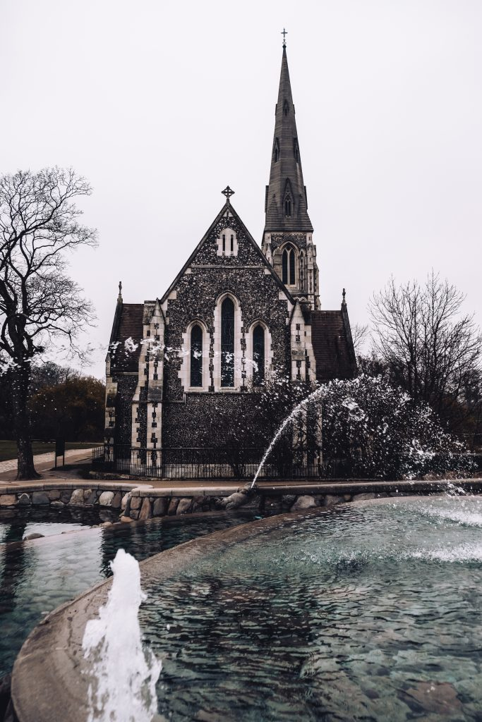 kastellet copenhagen church fountain