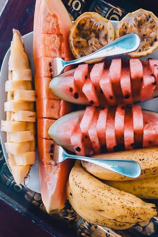 fruit plate at ella homestay