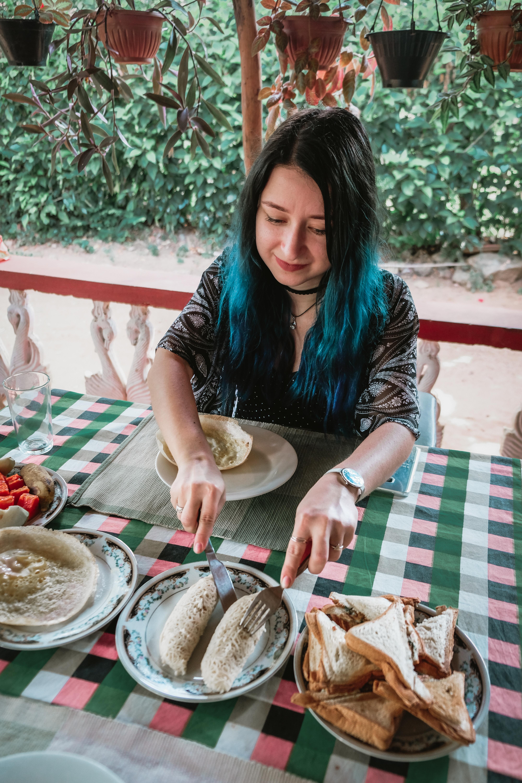breakfast in sigiriya sri lanka