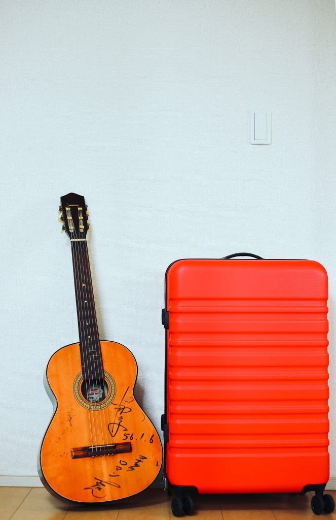 cute red suitcase