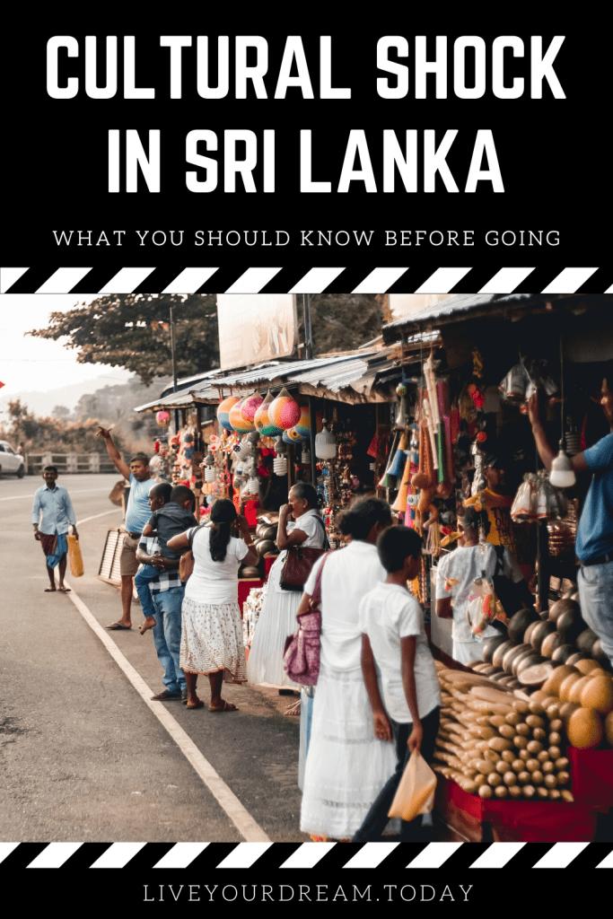 cultural shock in sri lanka