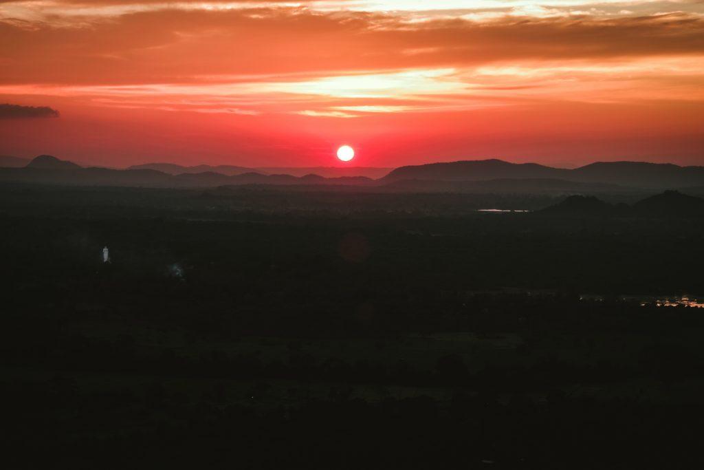 sunset at pidurangala rock