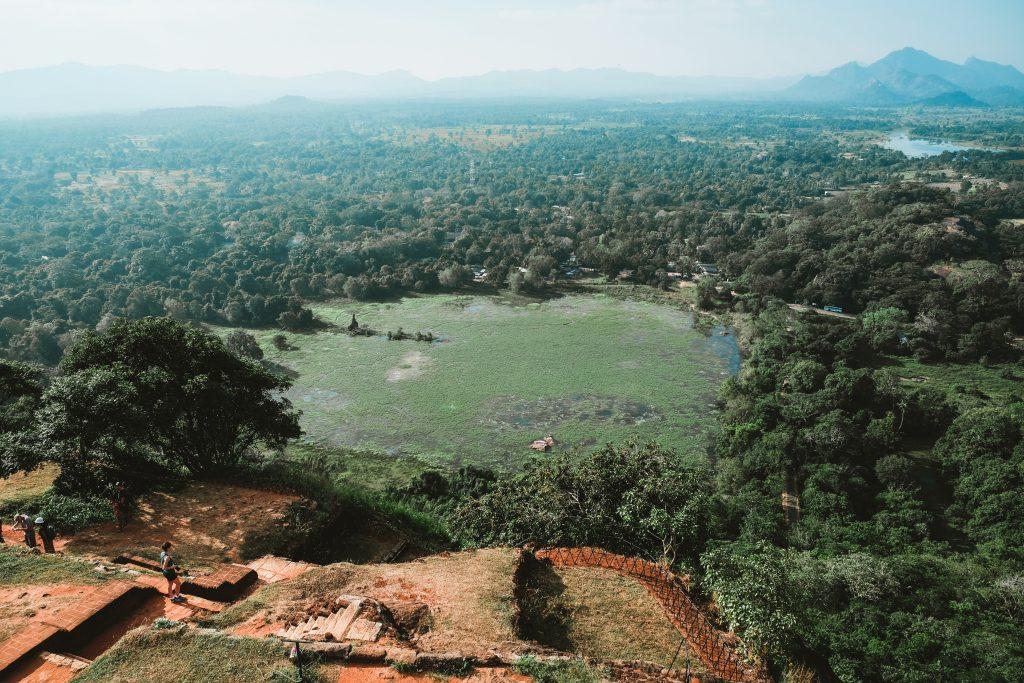 sigiriya rock top view