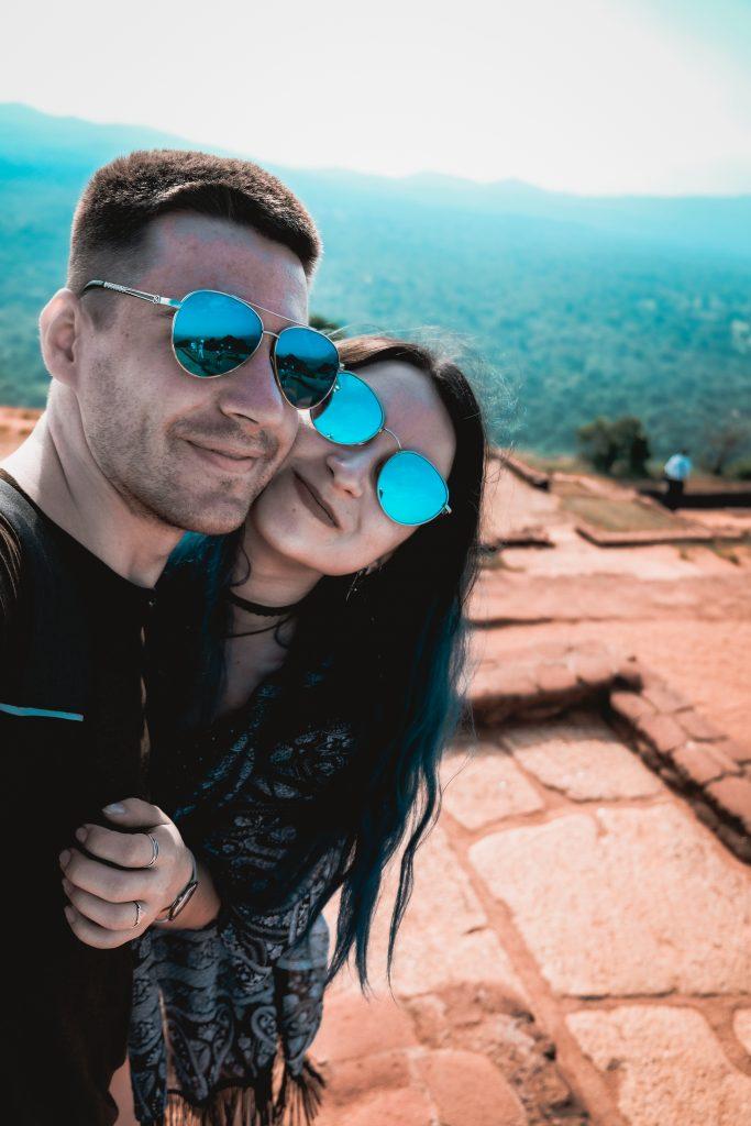 sri lanka adventures: a couple hiking in sigiriya