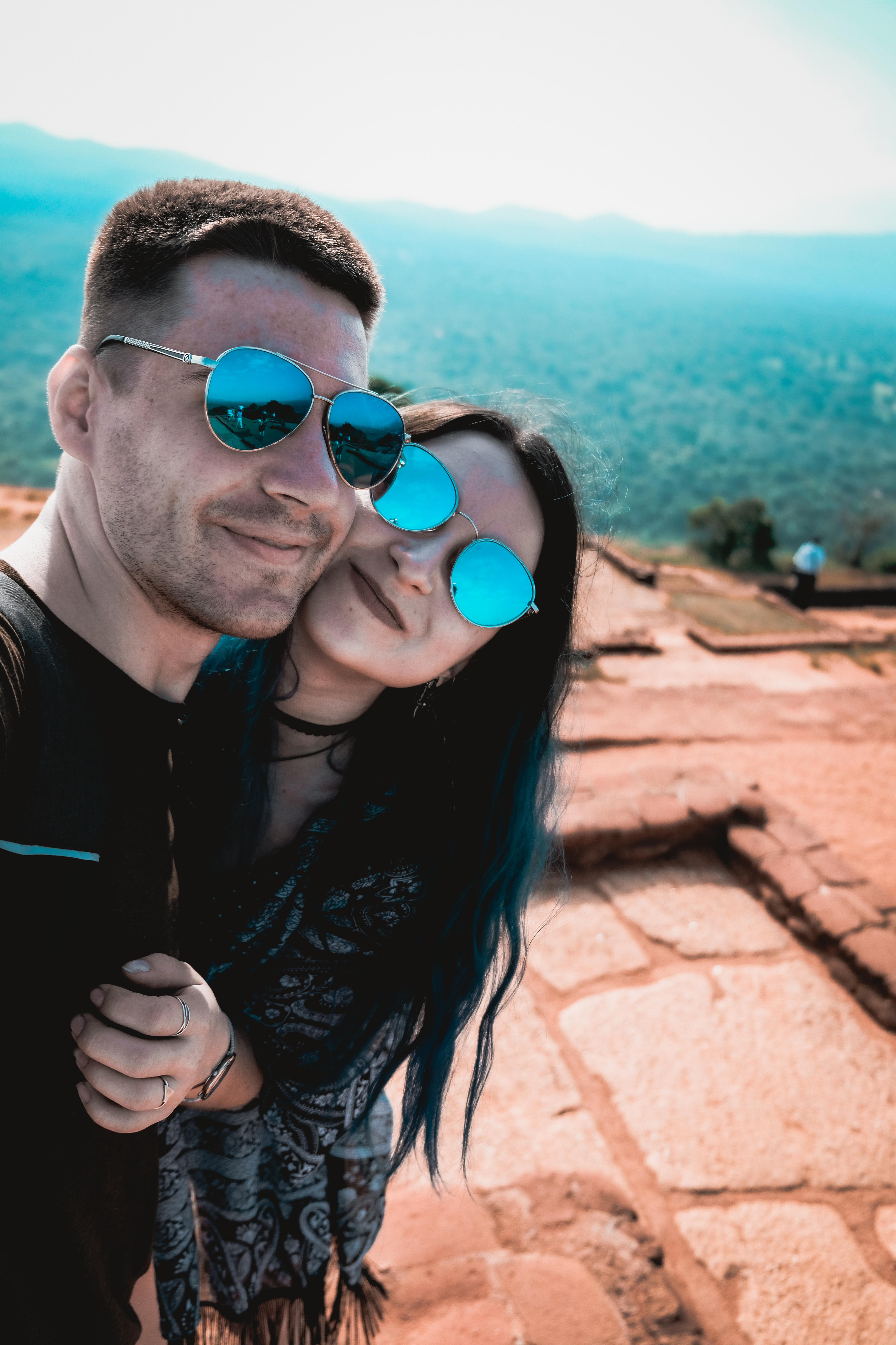 sri lanka adventures: a couple hiking in sigiriya