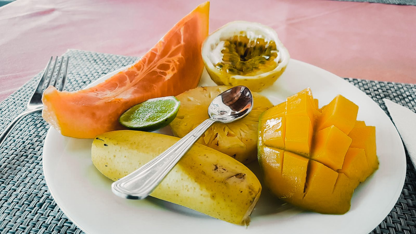 fruit plate - breakfast food in sri lanka