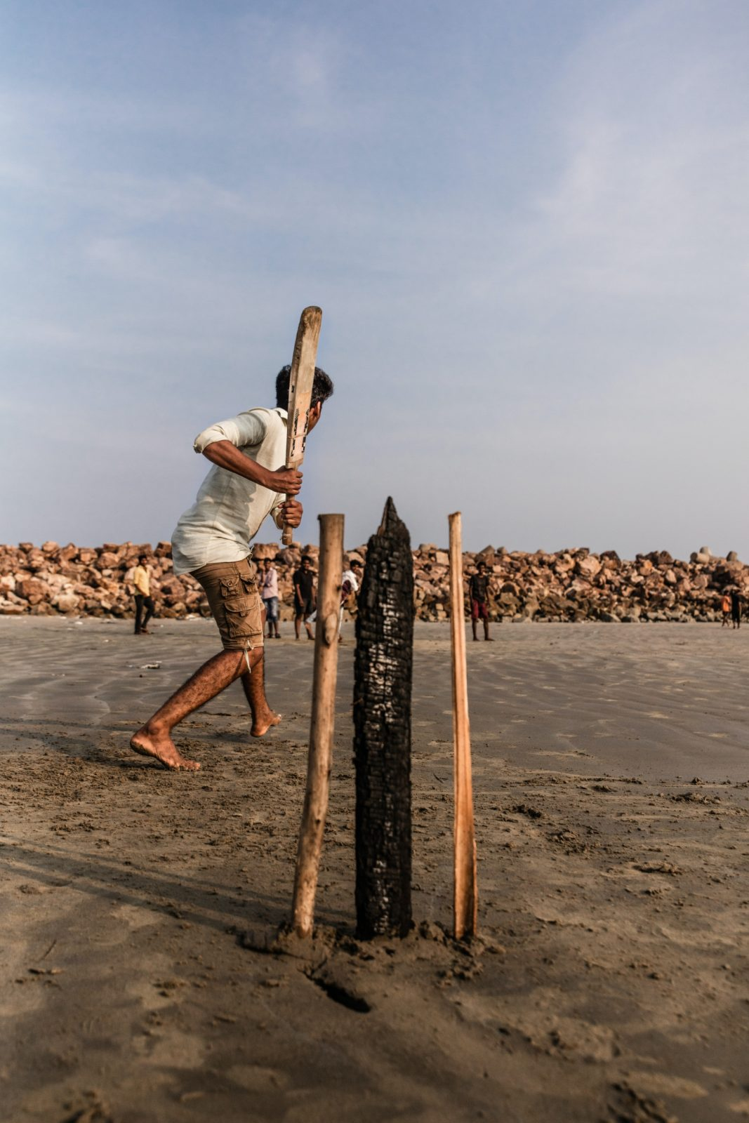 playing cricket in Sri Lanka
