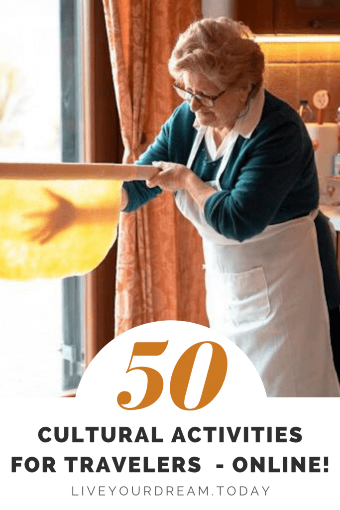 50 cultural activities for travelers online
