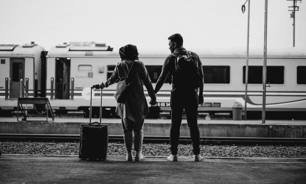 a couple trying to come home