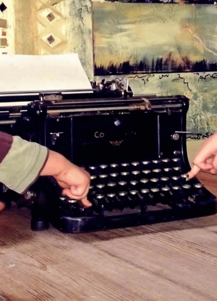 old war time typewriter in germany