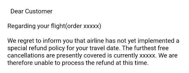 trip.com stupid refund rejection