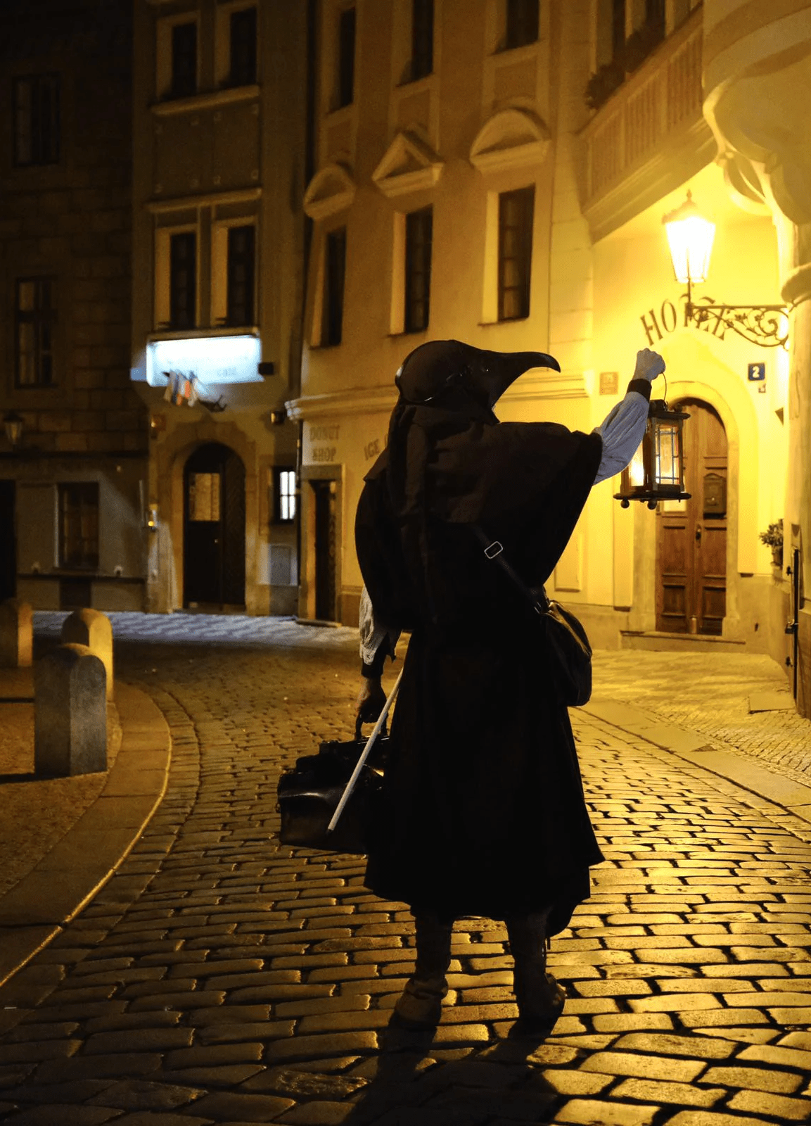 cultural walk plague doctor in prague