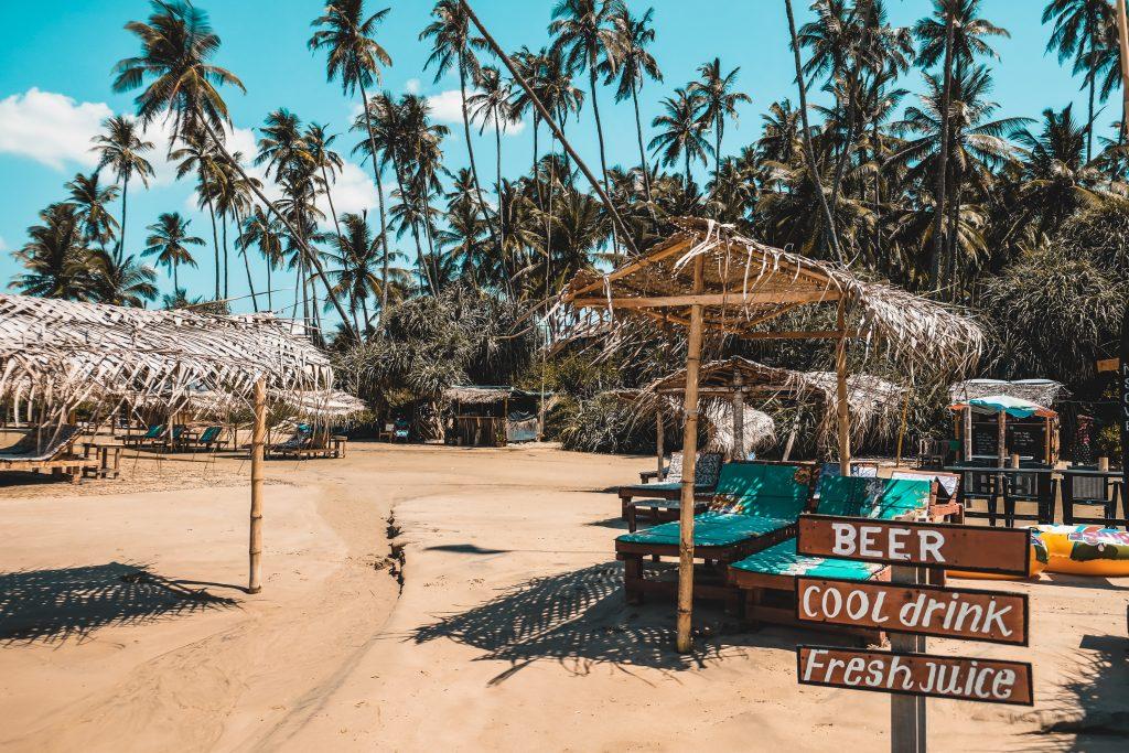 Dikwella beach in Sri Lanka