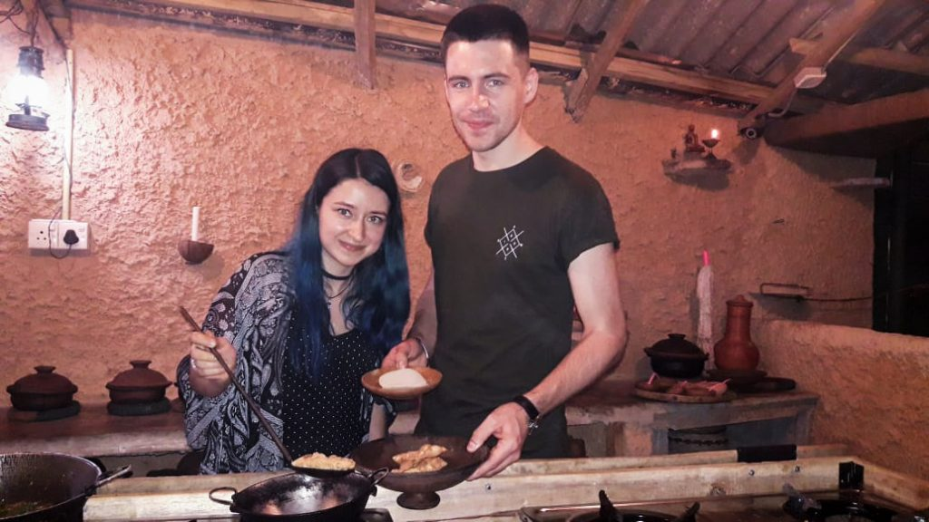 kandy cooking together in kandy - what can be more romantic?