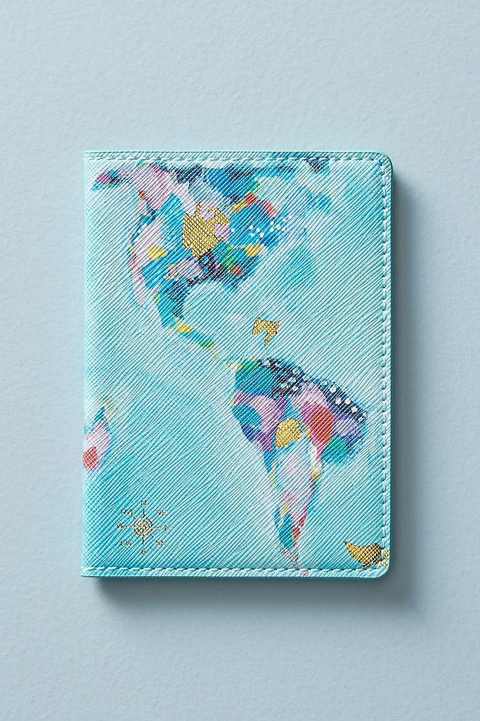 map travel passport holder