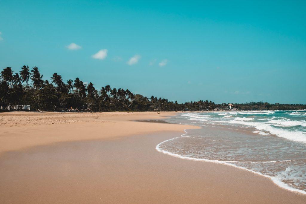 Talalla quiet beach in Sri Lanka