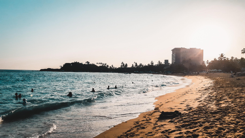 Sunset at Unawatuna Beach in Sri Lanka