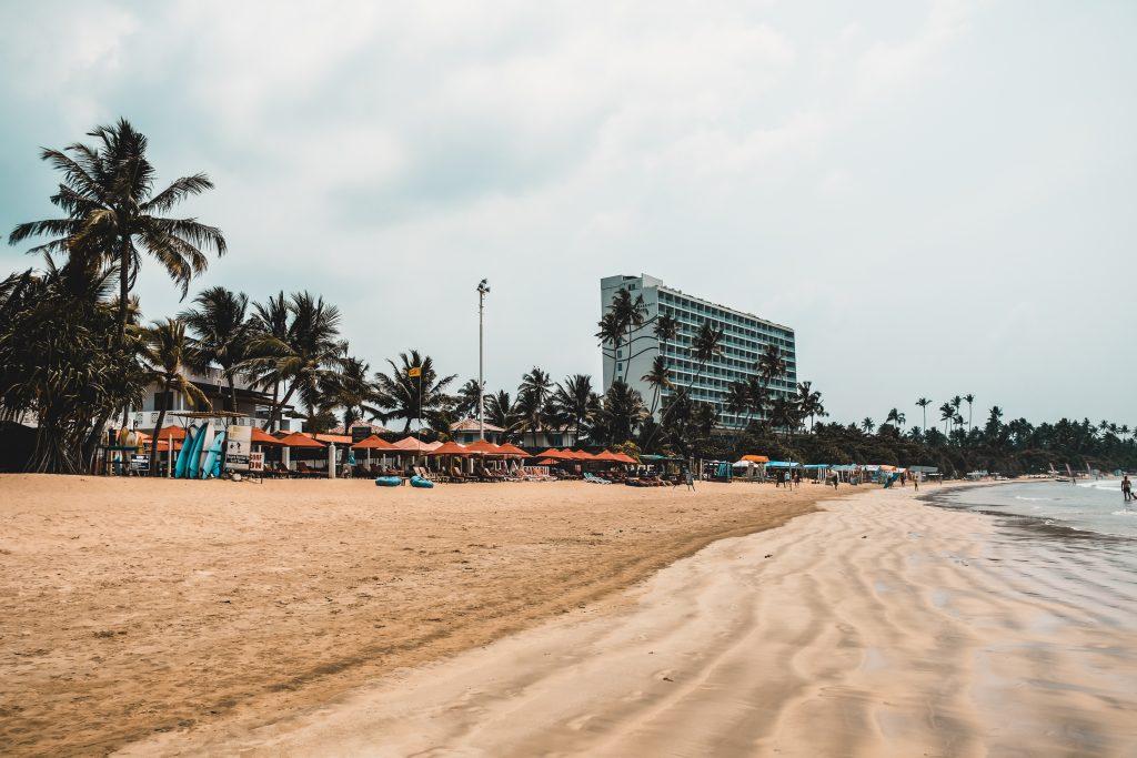 Beautiful Weligama Beach in Sri Lanka