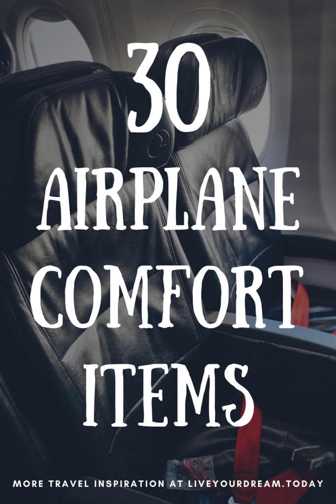 airplane comfort items and tips for long flights