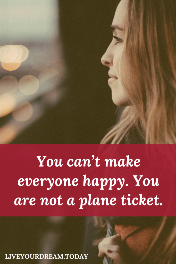 you are not a plane ticket travel quote