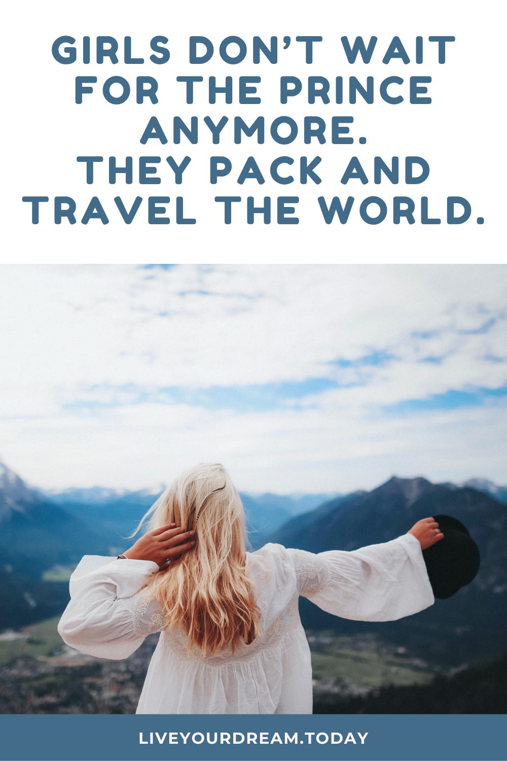 girls have fun travel quote