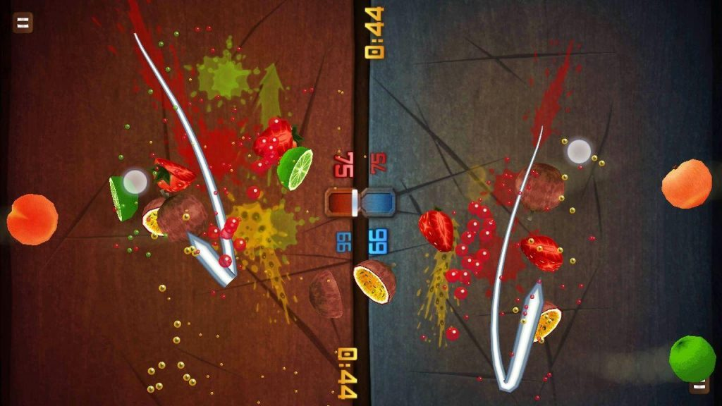 Fruit Ninja is a fun travel game for 2