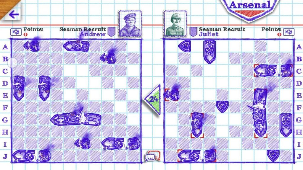 Sea Battle - travel game for couple