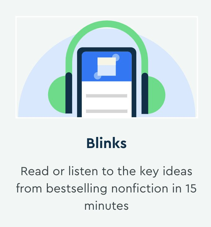 blinkist is an easy solution for learning and saving time which is crucial for entrepreneurs
