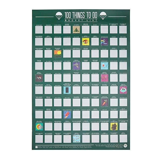 bucket list gift poster