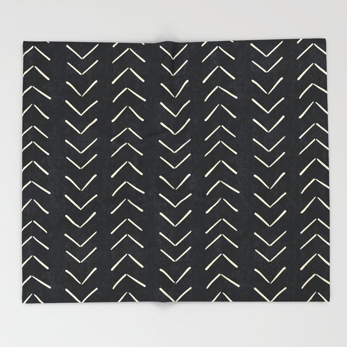 cozy throw blanket black and white for home office