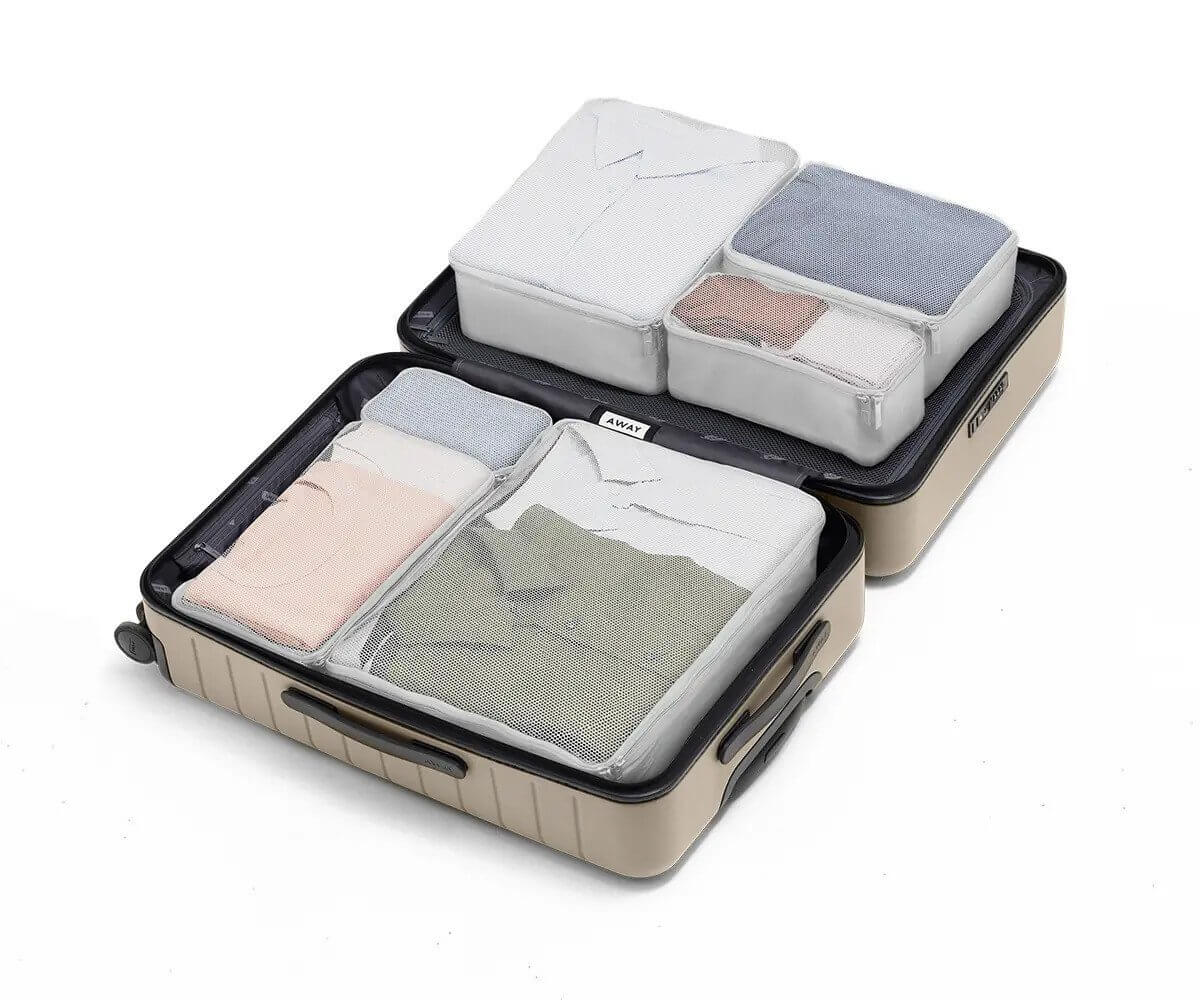 pack of cubes for organizing luggage
