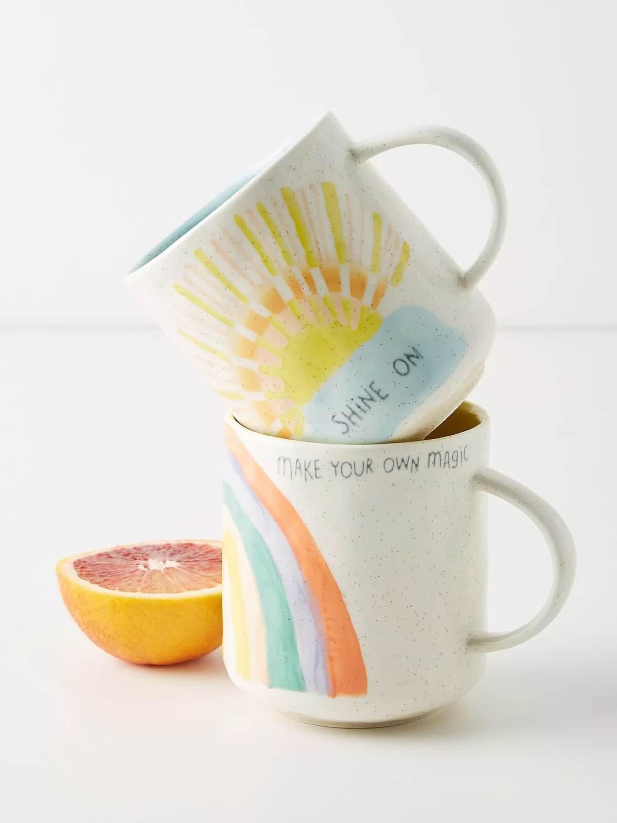 positive vibes mug for work