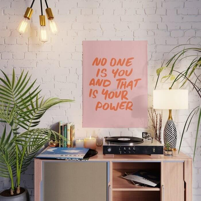 No One Is You And That Is Your Power Motivational poster
