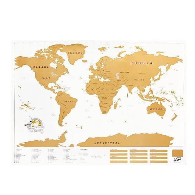 world scratch off map is awesome for a frequent traveler